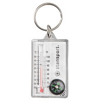 Stansport Zipper Pull Compass and Thermometer