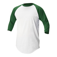 Soffe Adult Baseball/Softball 3/4 Sleeve Jersey