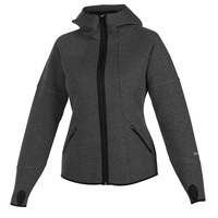 Avalanche Women's Double-Knit Melange Volcan Hooded Full-Zip Jacket