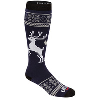 Hot Chilly's Women's Holiday Fever Mid Volume Winter Sport Socks