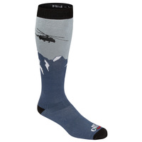Hot Chilly's Men's Heli Mid Volume Winter Sport Socks