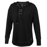 FREE2B Women's Luxe Fleece Lace-Up Hoodie