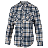 Burnside Men's Two Pocket Long-Sleeve Plaid Shirt