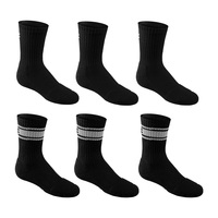 Under Armour Youth's Charged Cotton Crew Socks - 6-Pack