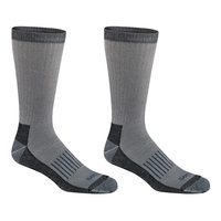 Dickies Men's Light Cushion Wool Blend Crew Socks - 2-Pack