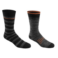 Hidden Peak Outdoors Men's Trailblazer Cushioned Boot Socks - 2-Pack