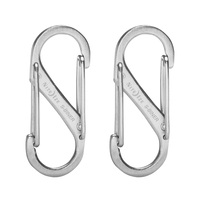 Nite Ize S-Biner Stainless-Steel Double Gated Carabiner #1 - 2 Pack